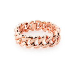 Metal bracelet in pink gold