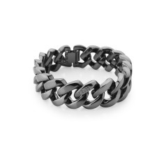 Metal bracelet in gun metal