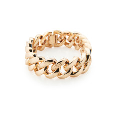 Metal bracelet in gold