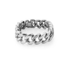 Metal eco bracelet in silver