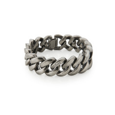 Metal bracelet in antique silver