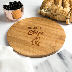Chips To My Dip Bamboo Serving Board