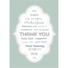 Thank you language cards (5 pack)