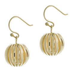 Ball earrings 9ct gold plated on sterling silver