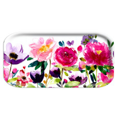 Red rose rectangle tray