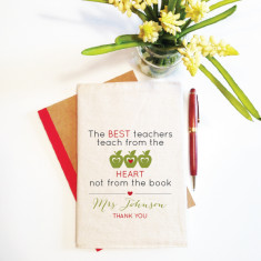 The best teachers personalised reusable notebook cover (including notebook)