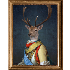 General stag ready to hang canvas art