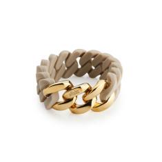 Woven bracelet in desert sand & gold
