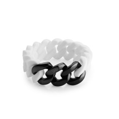 Woven bracelet in white & black