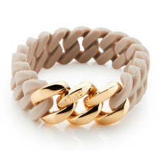 Mini woven bracelet in desert sand & gold