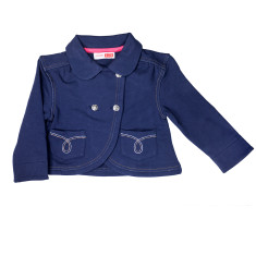 Girl's cropped jacket in navy