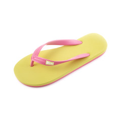 Breo pink and yellow organic rubber thongs