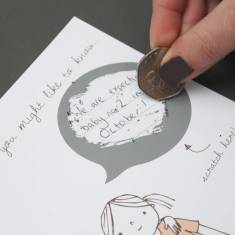 We thought you might like to know… secret message card