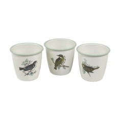 Thoughtful gardener enamel herb pot set