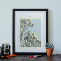 Personalised Family Map Print