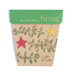 Christmas thyme gift of seeds