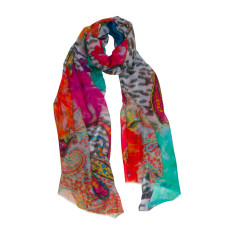 Animal motif luxe scarf