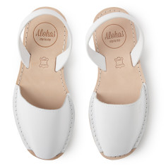 Alohas White Leather Sandal