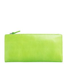 Dakota leather wallet in lime