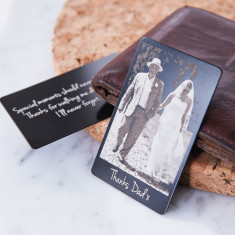 Photograph wallet keepsake card