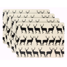 Kissing Stags Dining Placemats (Set of 4)