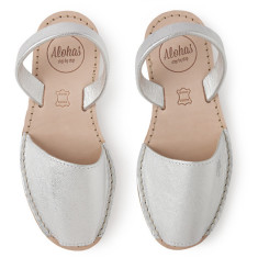 Alohas Junior Silver Leather Sandals