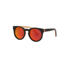 Tiki red mirror skate wood sunglasses