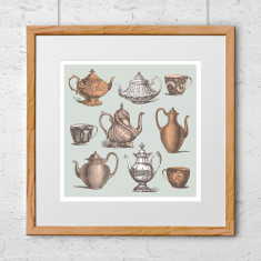 Time for tea teapot art print