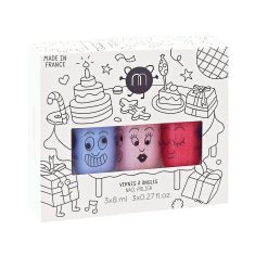 Party non-toxic wash-off nail polish for kids (set of 3)