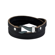 Men's hook bracelet in black