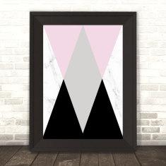 Geo Marble Triangle Print