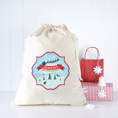 Christmas hills personalised Santa sack