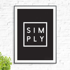 Simply print (various colours)
