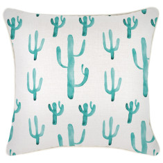 Outdoor Cushion Cover-Cactus Aqua (various sizes)