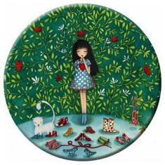 Secret garden pocket mirror