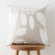 Moreton Bay Fig & Gold Dust Wattle cushion cover