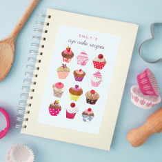 Personalised twelve cakes notebook