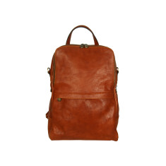 Dijon genuine leather backpack in brown