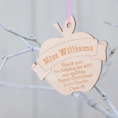 Personalised Birchwood Teacher Bauble