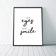 Your Eyes - Typographic Art Print