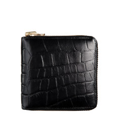 Empire leather wallet in black croc