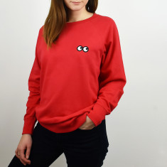 Only Got Eyes For You Embroidered Women's Sweatshirt