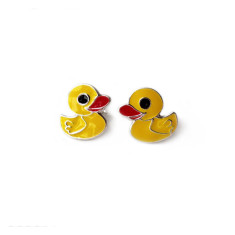 A Small World Yellow Duck Stud Earrings
