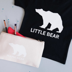 Mummy & Little Bear Makeup Bag and Kids T-Shirt Set