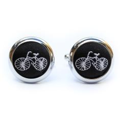 Black bicycle cufflinks