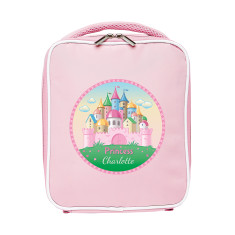 Personalised princess castle lunch bag