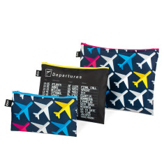 LOQI zip pocket set of 3 airport collection