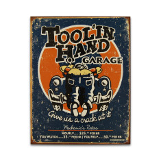 Tool In Hand Garage Sign
