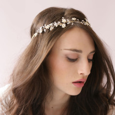 Flowers with crystal headband