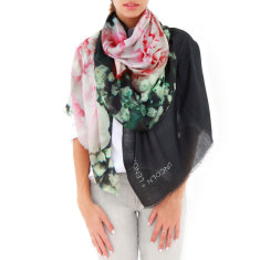 Cashmere Pink Peonies Scarf